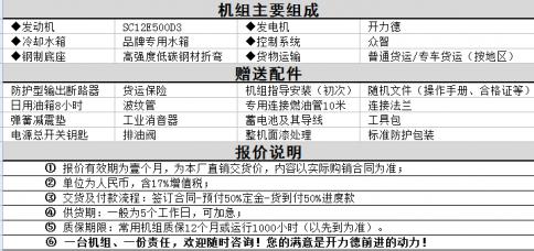 300kw上柴发电机厂家报价说明及配件赠送说明